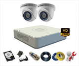 Trọn bộ 2 camera Hikvision 1Mp – HD720p