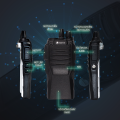 Bộ đàm Hypersia A2 2019, kỹ thuật số chống nhiễu, không bị rè, bộ đàm pin lâu tầm xa 1-3km hàng chính hãng.
