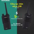 Bộ đàm cầm tay hypersia S9 phiên bản 2019 thiết kế mới, cổng sạc Micro usb pin đàm thoai 1 ngày – Hàng chính hãng