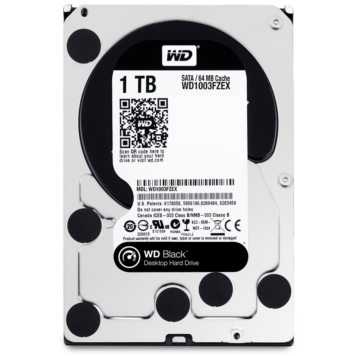 Ổ Cứng HDD WD Black™ 1TB/64MB/7200rpm/3.5 – WD1003FZEX – Hàng chính hãng