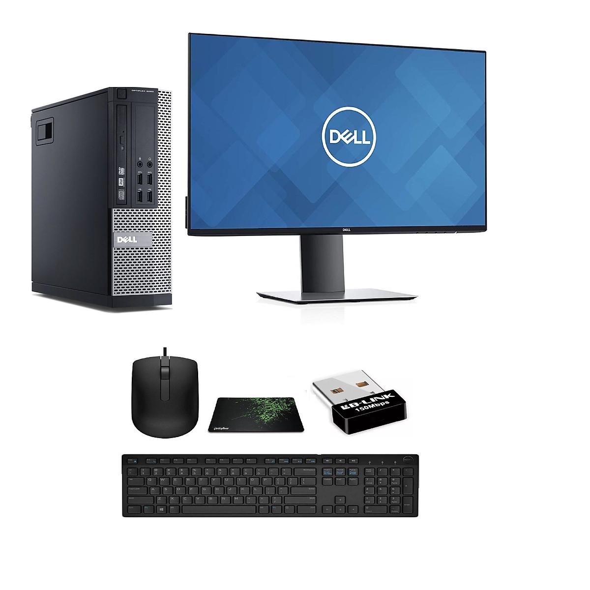 Bộ Máy tình Để Bàn Dell X020 ( Core i7 – 4770 / Ram 8GB / SSD 240GB / Card hình Quadro K620- 2Gb) Và Màn hình Dell U2419H và Bàn Phím chuột Dell – Dòng Dùng Đồ Họa cao cấp  – Hàng chính hãng