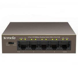 Switch 5 Port 10/100M Tenda TEF1105P – Hàng chính hãng