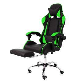Ghế chơi game cao cấp chân xoay nghiêng ngả 360 độ, ngã 135 độ, có gác chân dành cho game thủ Mẫu E02 màu xanh lá  (Hàng nhập khẩu)