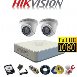 Trọn Gói 2 Camera Analog Hikvision 2MP/HD1080