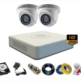 Trọn Gói 2 Camera Analog Hikvision 1Mp – HD720p