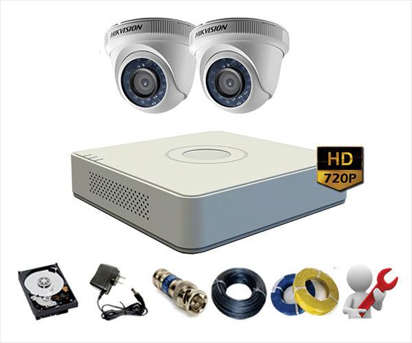 Trọn Gói 2 Camera Analog Hikvision 1Mp – HD720p