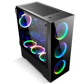 Vỏ Case Golden Field Z21 (Full Tower/Màu Đen,1 fan Golden Field Rainbow RGB Inner)) _ Hàng chính hãng