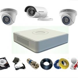 Trọn Gói 3 Camera Analog Hikvision 1MP – HD720P