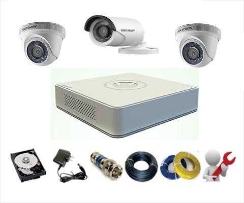Trọn Gói 3 Camera Analog Hikvision 1MP – HD720P