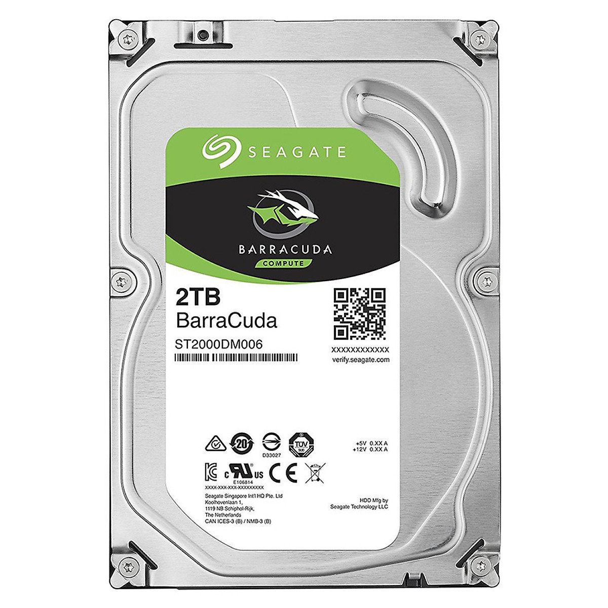 Ổ Cứng HDD Seagate BarraCuda 2TB/64MB/3.5 – ST2000DM006 – Hàng chính hãng