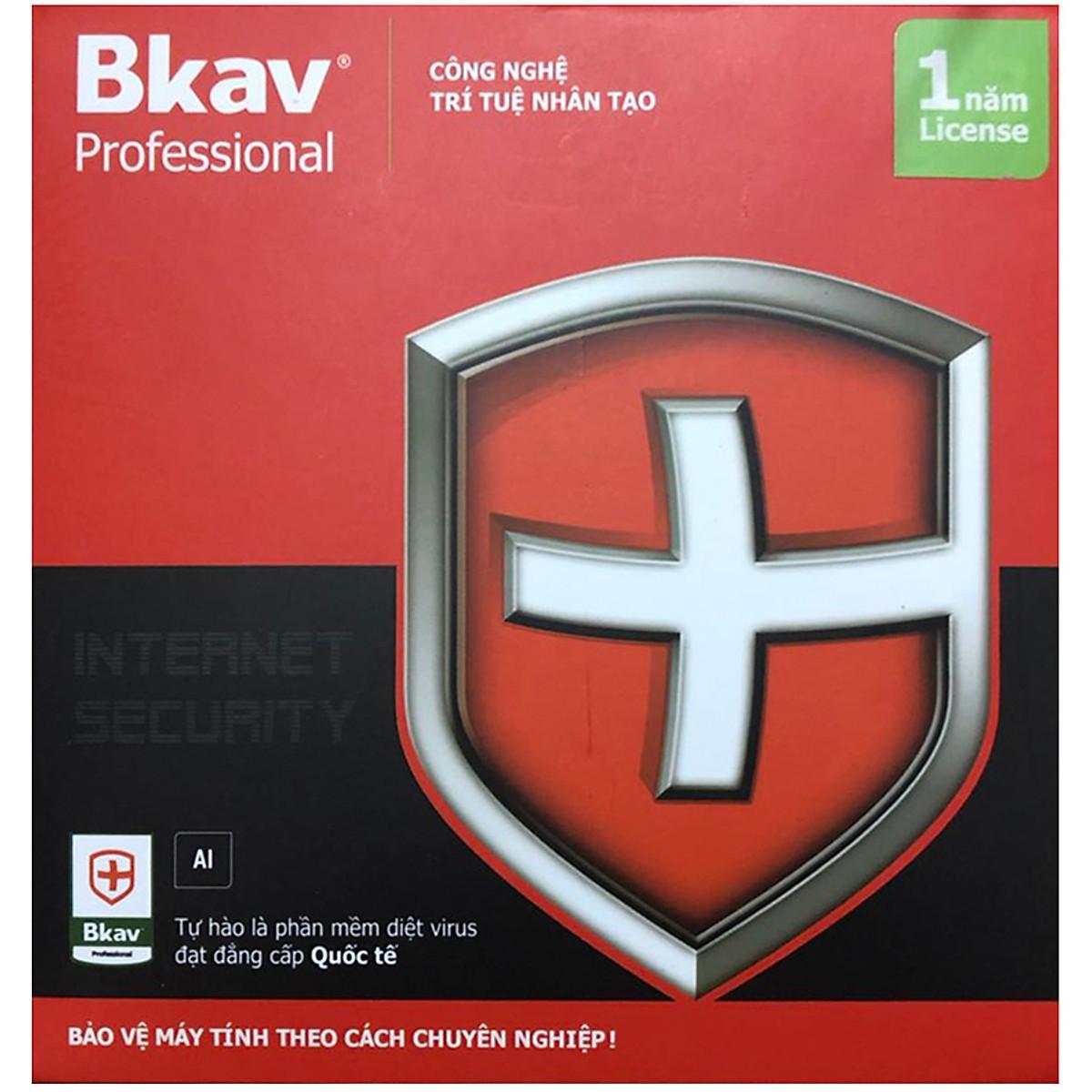 Phần Mềm Diệt Virus BKAV Profressional 1 PC 12 Tháng – Hàng Chính Hãng
