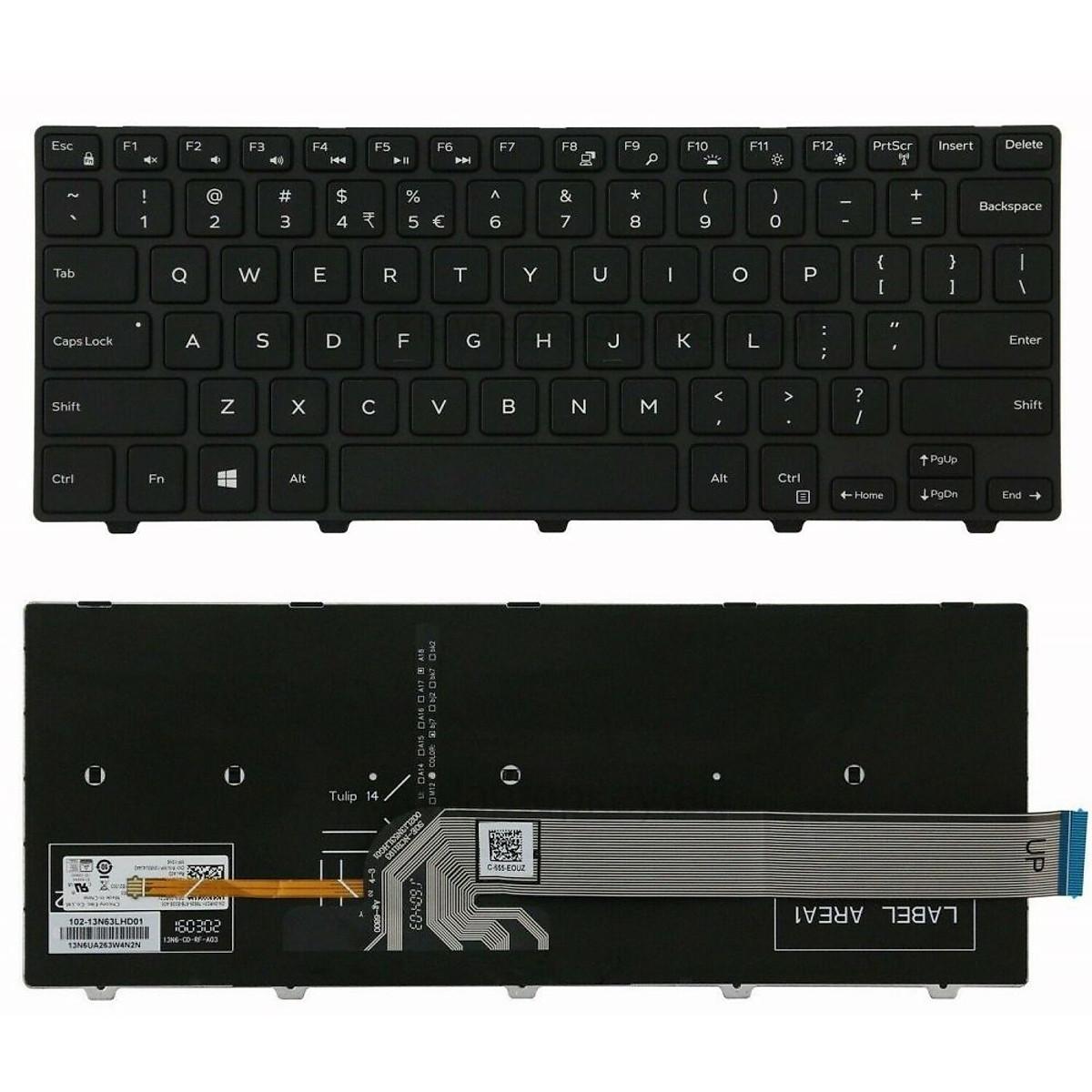 Bàn phím thay thế dành cho laptop Dell Inspiron 7447 có đèn nền