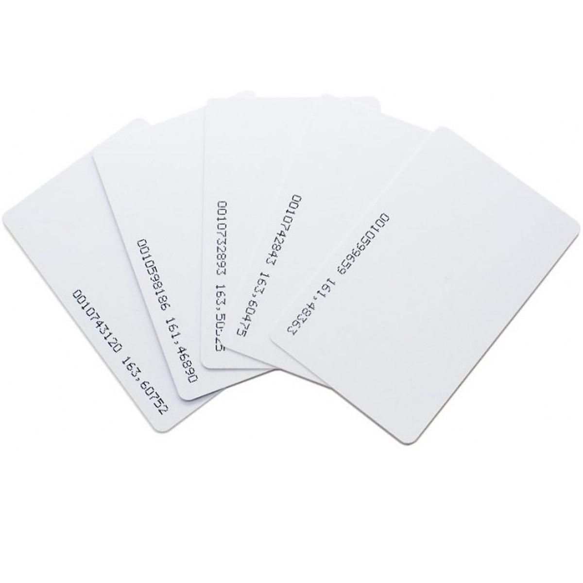 [ Set 10 thẻ] Thẻ từ máy chấm công tần số 125Khz – loại mỏng 0.8mm