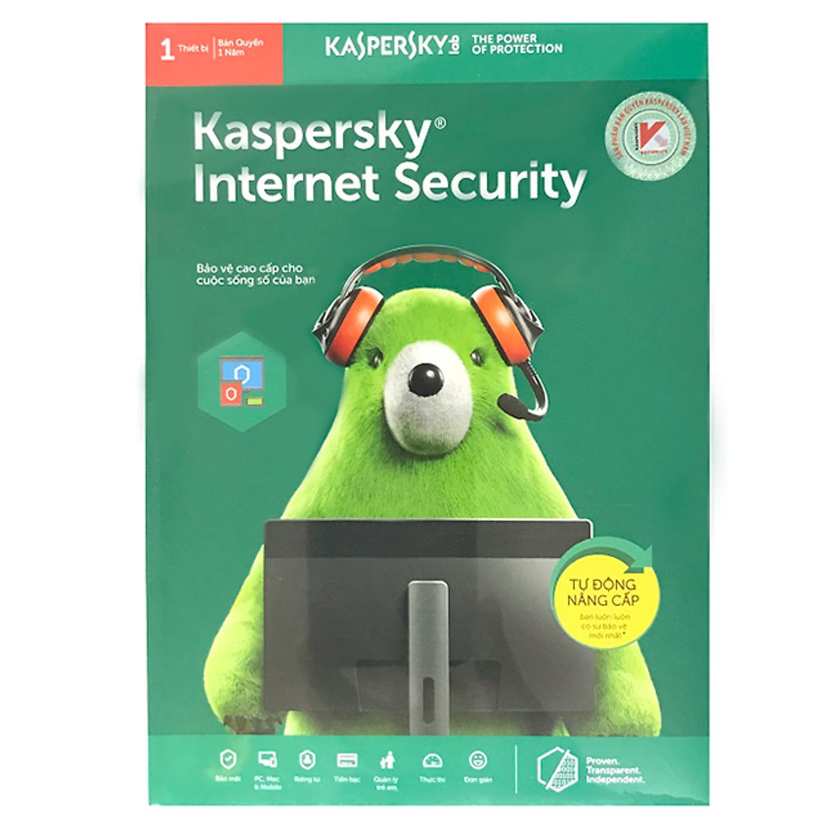 Kaspersky Internet Security Cho 1 Máy Tính – KIS1U – Hàng chính hãng