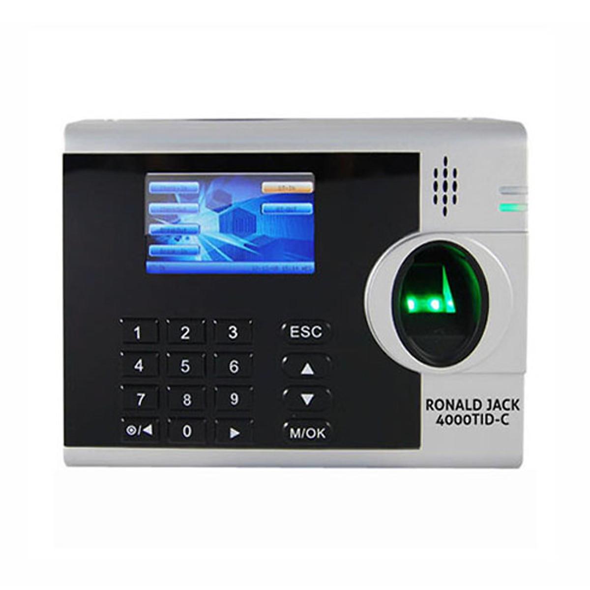 Máy chấm công vân tay và thẻ cảm ứng Ronald Jack 4000 TID-C – Hàng Nhập Khẩu