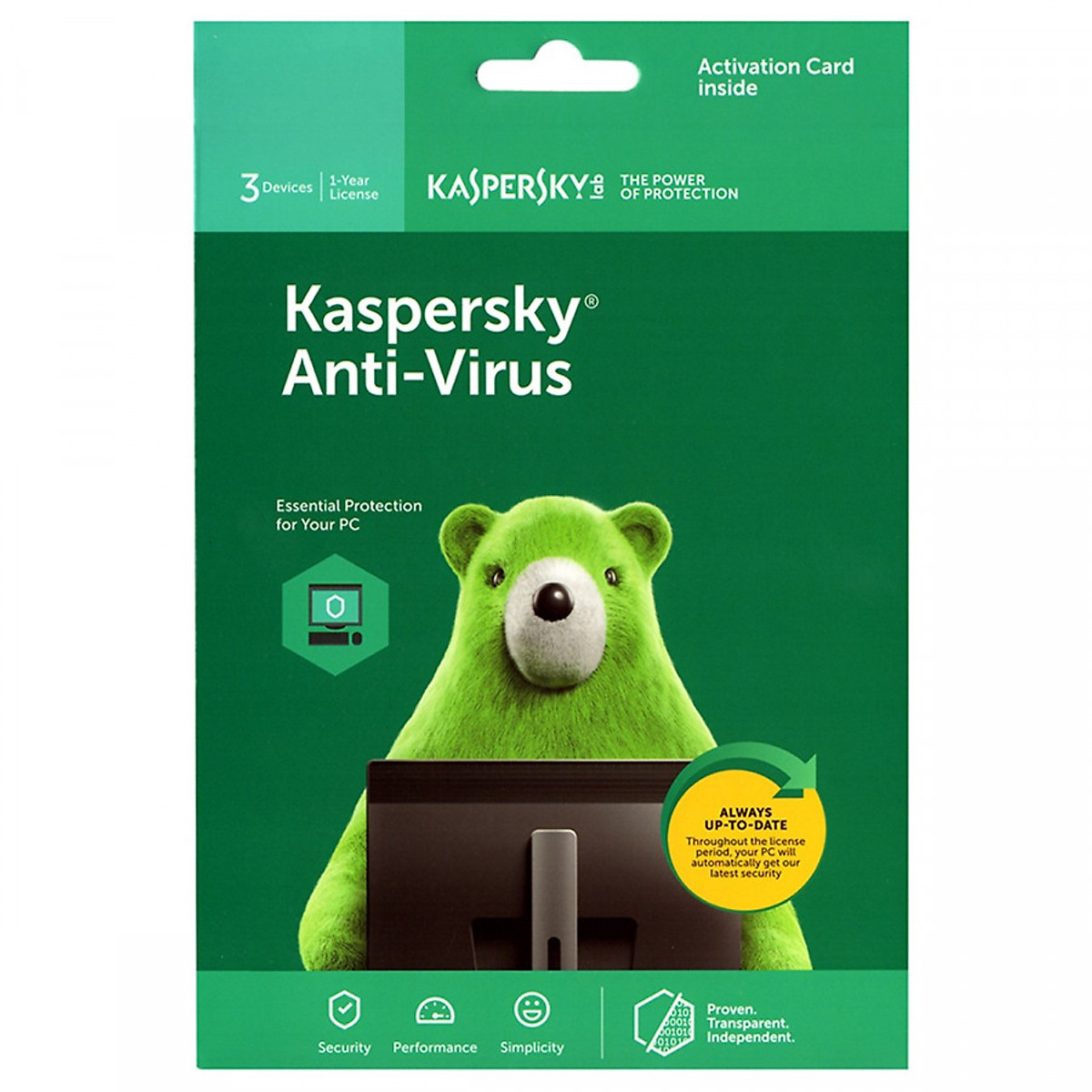 Phần mềm Kaspersky antivirus 3PC/1 năm – Hàng chính hãng
