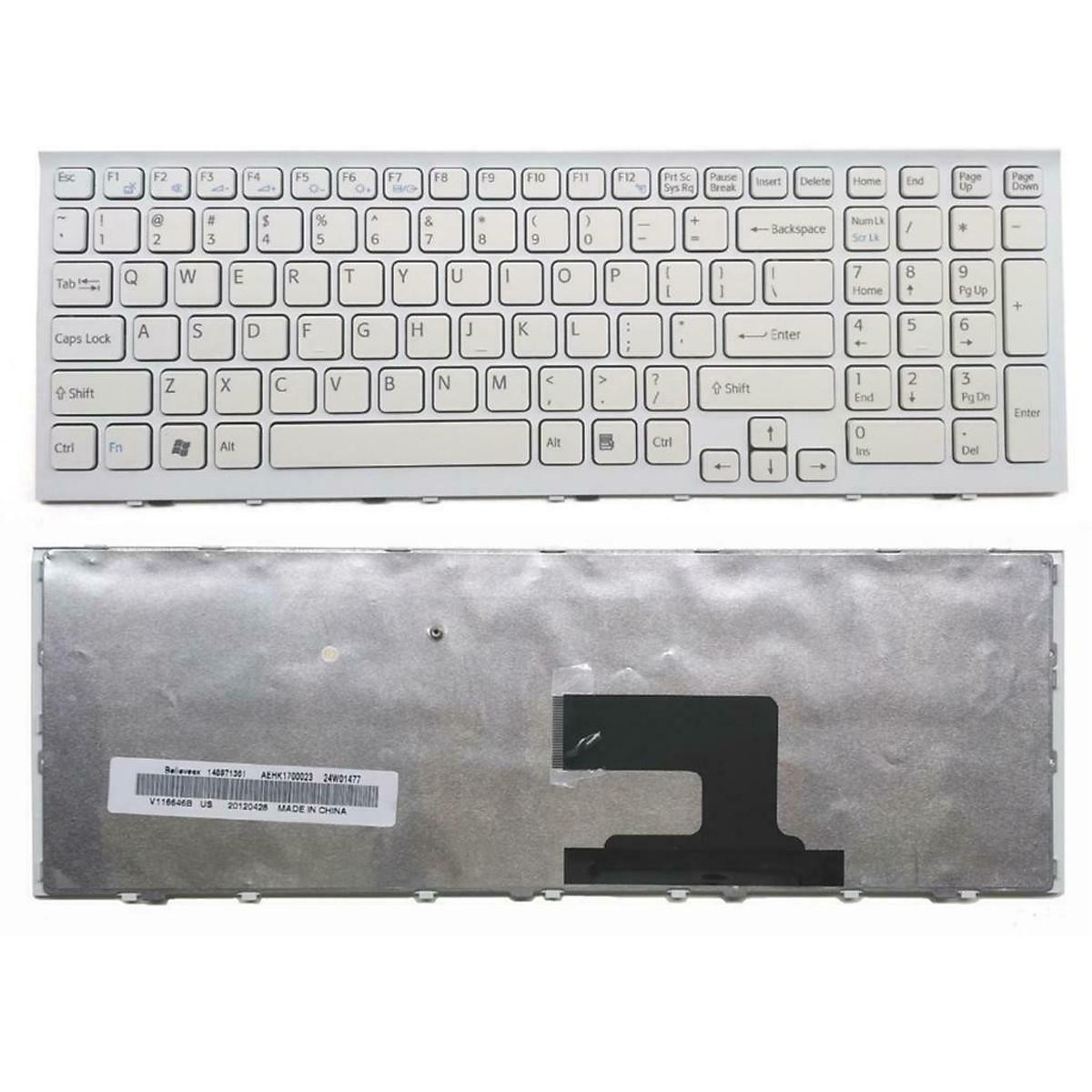 Bàn phím dành cho Laptop Sony VAIO VPC-EH Series Màu Trắng