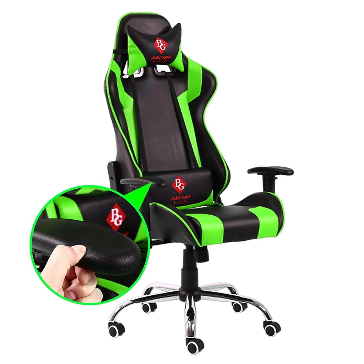 BG Ghế chơi game Mẫu G1 (Green/Black) (hàng nhập khẩu)