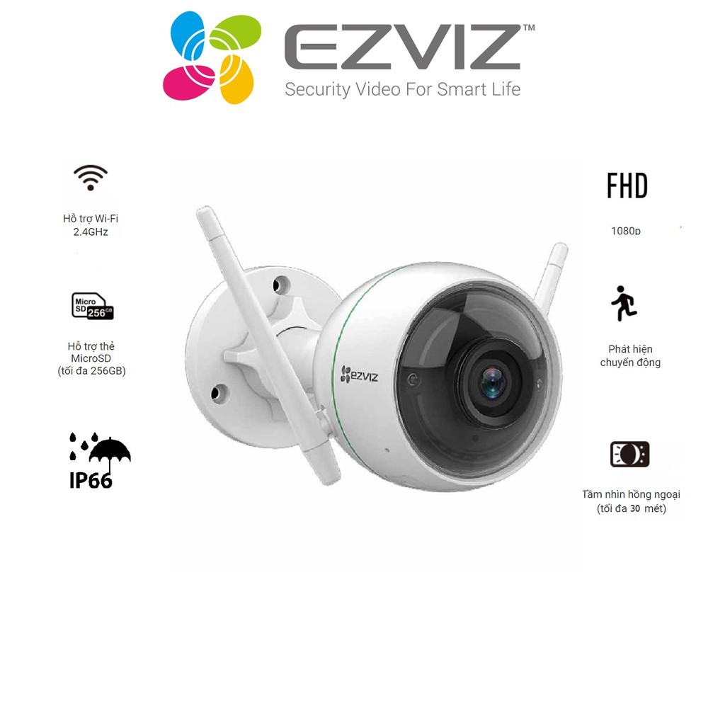 Camera Wifi gắn ngoài trời EZVIZ_CS-CV310 (C3WN) (1080P) – Hàng chính hãng