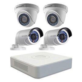 Trọn bộ 4 Camera giám sát HIKVISION TVI 2 Megapixel DS-2CE56D0T-IR chuẩn Full HD – Hàng chính hãng