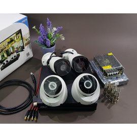 Bộ KIT Camera Dahua CVI vỏ sắt: 1 đầu ghi + 2 mắt thân trụ + 2 mắt gắn trần Hàng chính hãng