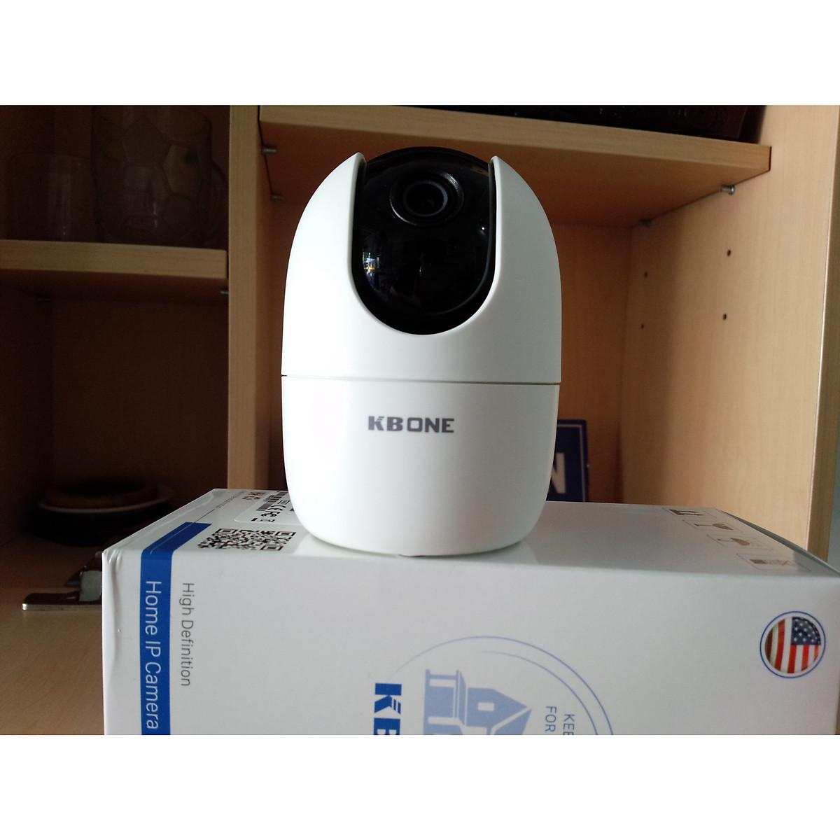 Camera IP wifi KBVISION trong nhà – xoay 360 độ – nghe nói 2 chiều KBONE H21PW – Hàng chính hãng