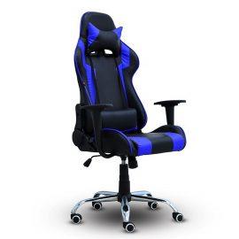 BG Ghế chơi game Mẫu E01 (Blue/Black) chân xoay 360 độ, ngả 165 độ (hàng nhập khẩu)