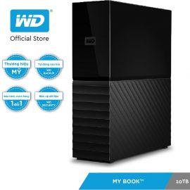 [Mã ELWDSD giảm 8% tối đa 300K] Ổ cứng ngoài WD My Book 10TB- 3.5″ USB 3.0 Desktop NEW.