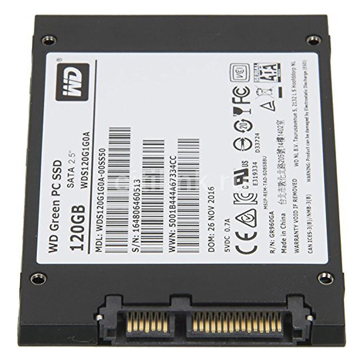 Ổ Cứng SSD WD Green 120GB 3D NAND – WDS120G2G0A – Hàng Chính Hãng