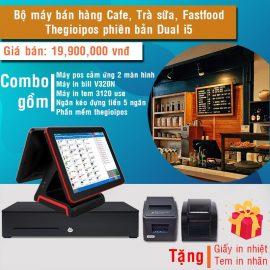 Combo bộ máy bán hàng Nhà hàng, quán ăn, fastfood, cafe: Thegioipos phiên bản Dual I5