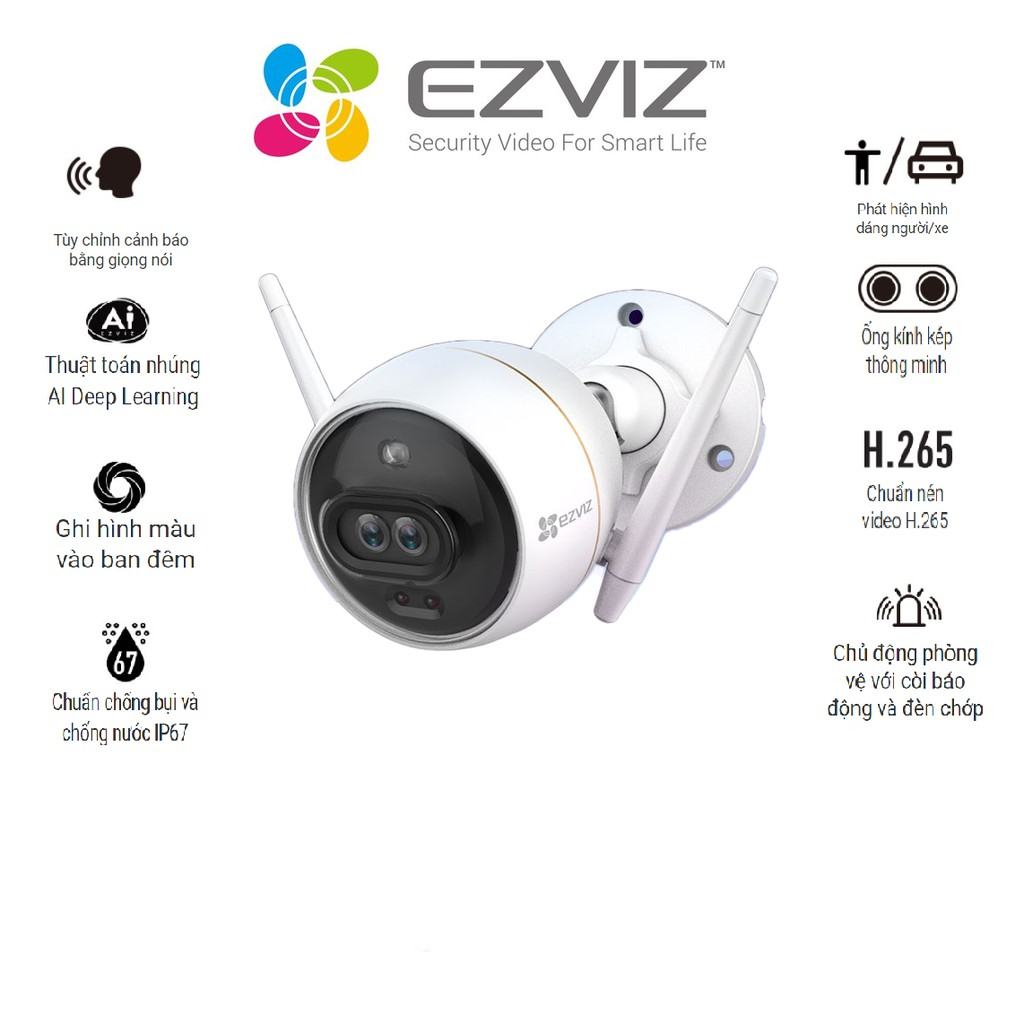 Camera Wifi gắn ngoài trời  EZVIZ CS-CV310 C3X (C3-6B22WFR)