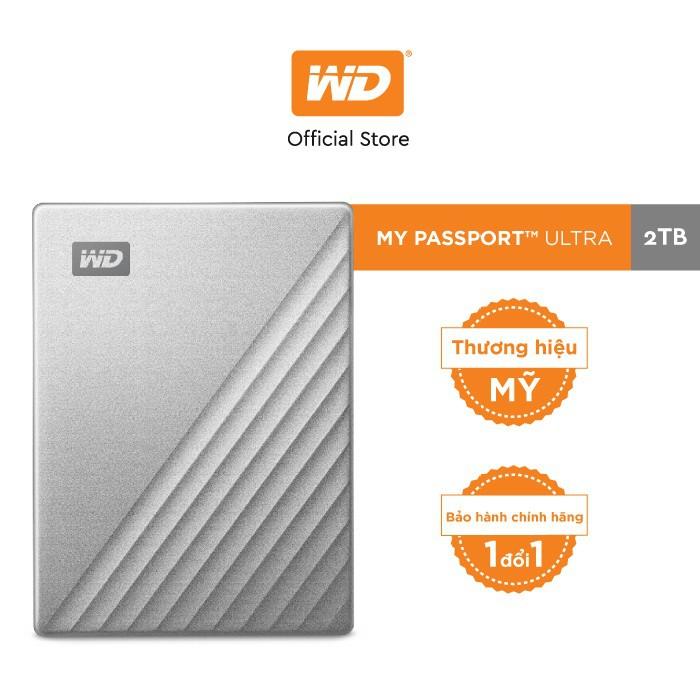 [Mã ELWDSD giảm 8% tối đa 300K] Ổ Cứng Di Động WD My Passport Ultra Silver -2TB ( 2.5″ USB 3.0 )-