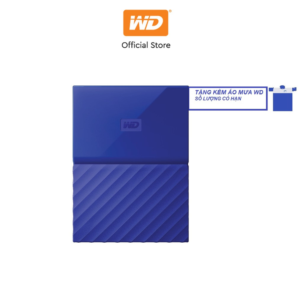 [Mã ELWDSD giảm 8% tối đa 300K] Ổ cứng WD My Passport 2.5 INCH 1TB Portable (Xanh)