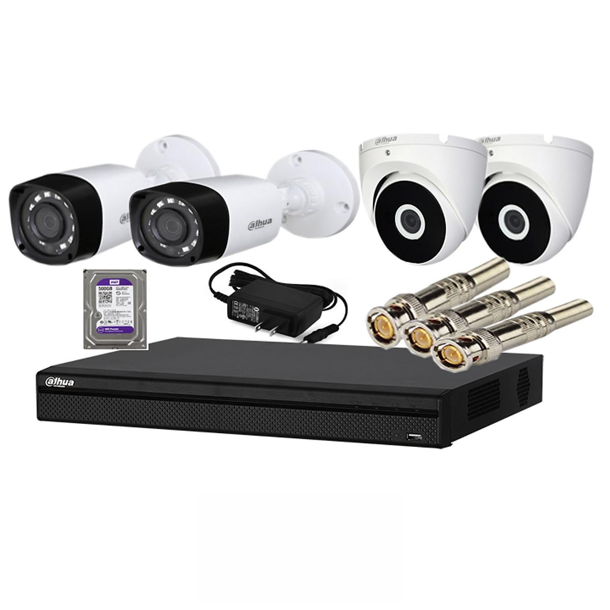 Trọn bộ 4 camera chính hãng Dahua HD1080