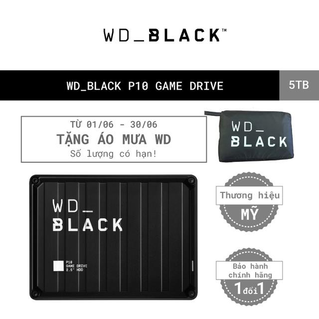 [Mã ELWDSD giảm 8% tối đa 300K] Ổ cứng HDD WD BLACK P10 Game Drive 5TB 2.5″, 3.2 (WDBA3A0050BBK-WESN)