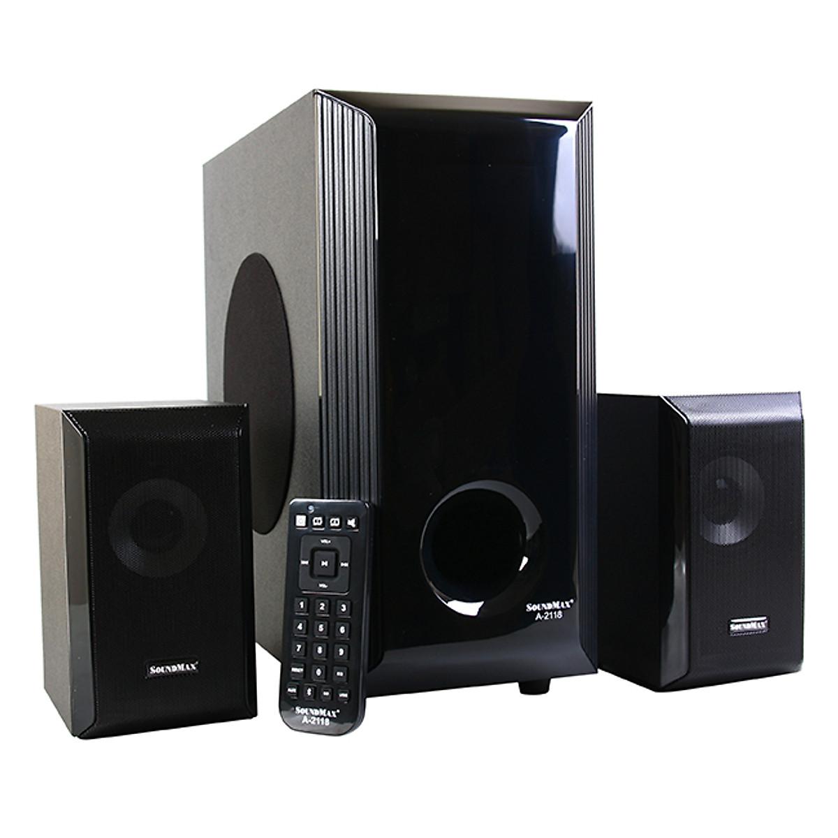 Loa Vi Tính SoundMax A-2118/2.1 60W Tích Hợp Bluetooth 4.0 – Hàng Chính Hãng