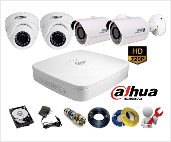 Trọn Gói 7 Camera Analog Dahua 1.0Mp