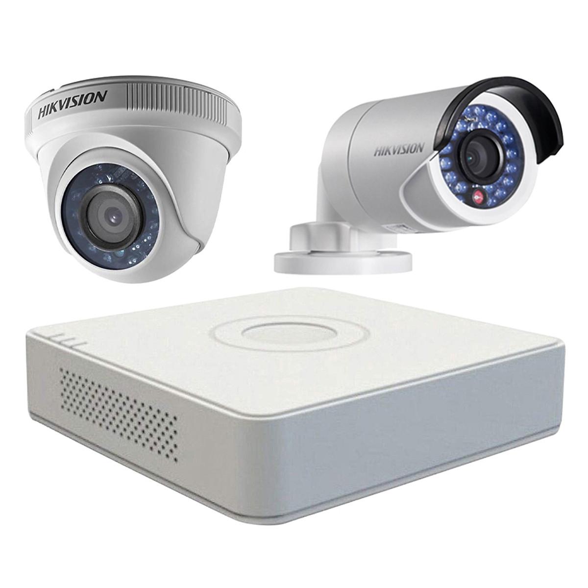 Trọn bộ 2 Camera giám sát HIKVISION TVI 2 Megapixel DS-2CE56D0T-IR chuẩn Full HD – Hàng chính hãng