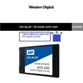 [Mã ELWDSD giảm 8% tối đa 300K] Ổ Cứng SSD WD Blue 3D NAND 500GB WD WDS500G2B0A (2.5 inch)