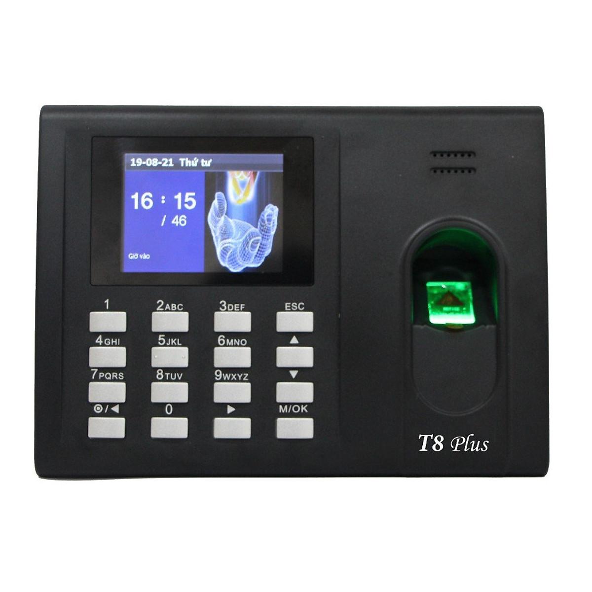 Máy chấm công vân tay thẻ cảm ứng Ronald Jack T8 Plus – Hàng Chính Hãng