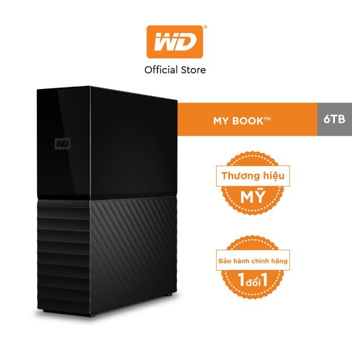 [Mã ELWDSD giảm 8% tối đa 300K] Ổ cứng ngoài WD My Book 6TB- 3.5″ USB 3.0 Desktop NEW