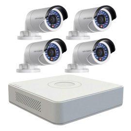 Trọn bộ 4 Camera quan sát HIKVISION TVI 1 Megapixel DS-2CE16C0T-IRP chuẩn 720HD – Hàng chính hãng