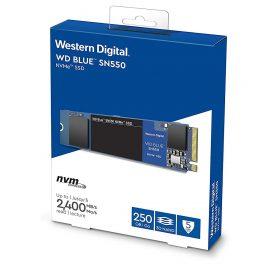 Ổ cứng SSD WD Blue SN550 250GB M.2 2280 NVMe Gen3 x4 WDS250G2B0C – Hàng Chính Hãng
