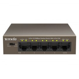 Bộ Chia Mạng Switch 5-Cổng 10/100Mbps Với 4 Cổng PoE Tenda TEF1105P – Hàng Chính Hãng