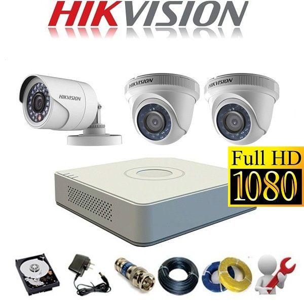 Trọn Gói 3 Camera Analog Hikvision 2Mp