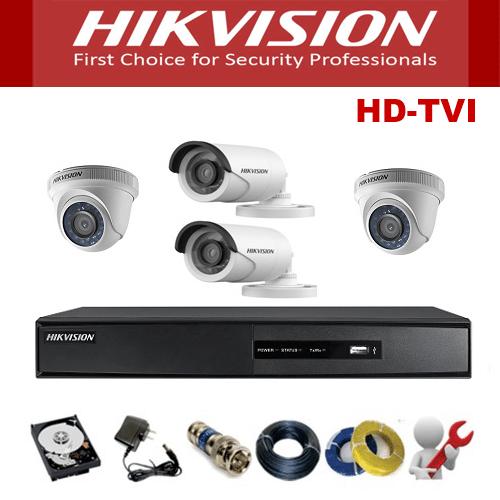 Trọn Gói 4 Camera Analog Hikvision 5.0Mp