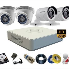 Trọn Gói 4 Camera Analog Hikvision 1.0Mp