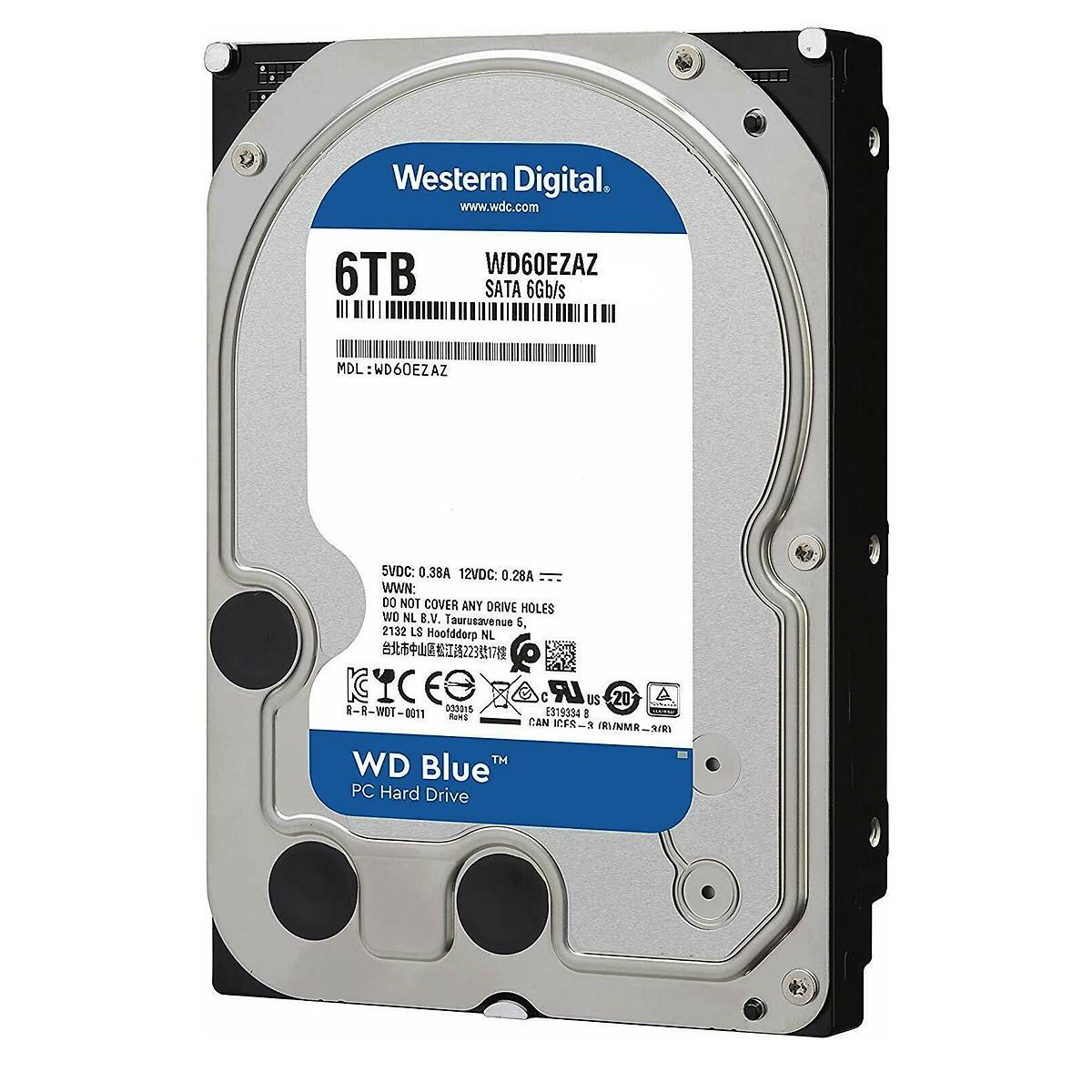 Ổ cứng gắn trong HDD Western Digital BLUE 6TB – Hàng nhập khẩu