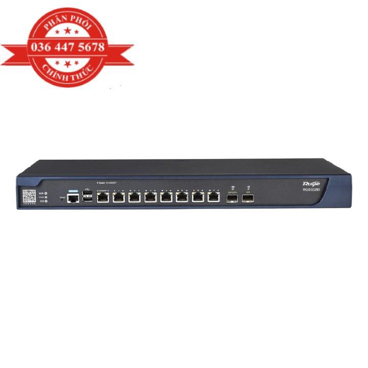 [Mã ELCL3MIL giảm 5% đơn 3TR] Bộ Chuyển Mạch 8 Cổng 1000BASE-T Smart Gateway RUIJIE RG-EG3250 – Hàng Chính Hãng