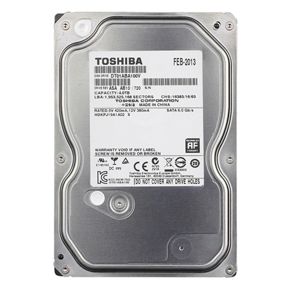 Ổ Cứng HDD Toshiba 4TB 7200RPM – Hàng Chính Hãng
